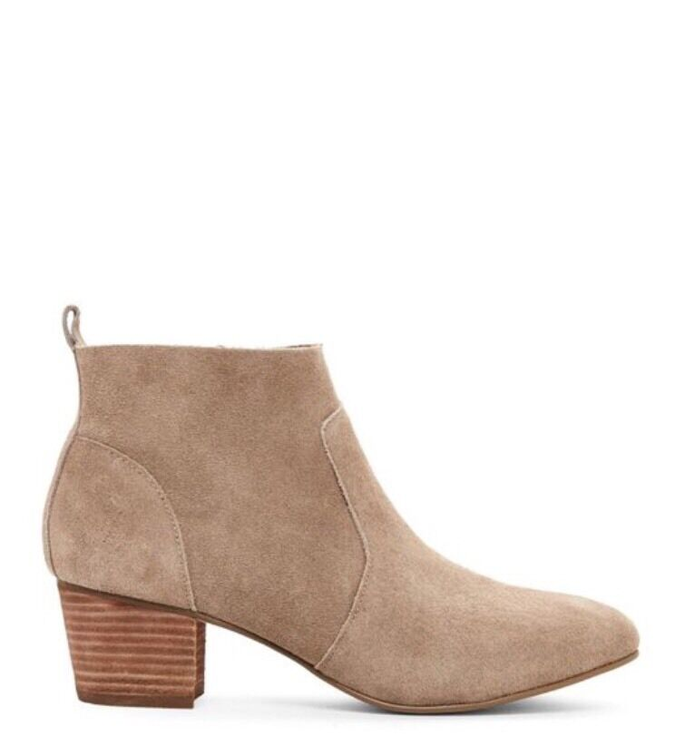 New Steve Madden  Gellar  Women's Taupe Suede Leather Ankle Boots Booties 9.5