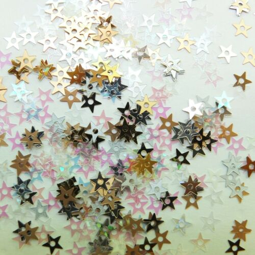 Sequin Star 5mm Starlet Mix Gold Silver Rainbow 500 pcs Made in USA