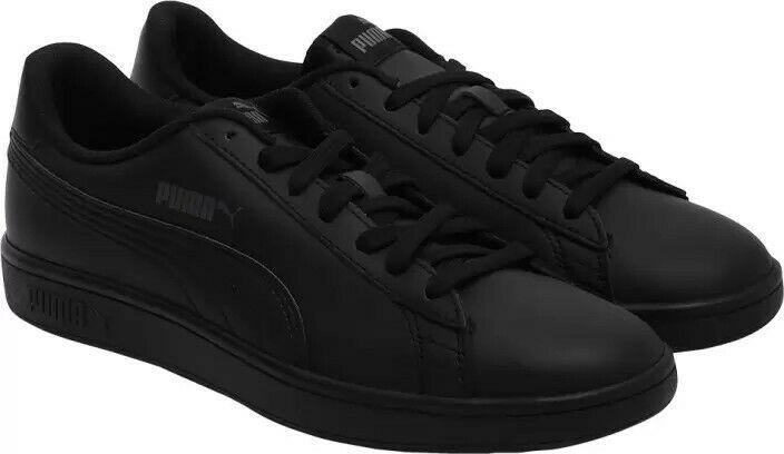 Puma Smash V2 L Mens Size 11 Black Leather Athletic shoes Free shipping