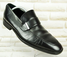 GUCCI Mens Real Leather Black Casual Loafers Slip On Shoes Size 9 UK 43 EU