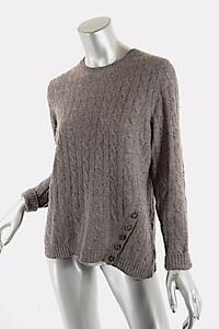 Sweater knopen met Mushroom Warren Great M Cashmere Sz White 100 Cable OH0XqwY