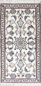 Elegant-New-Hand-Knotted-Ivory-Floral-Nain-Oriental-Runner-Rug-Wool-2-5