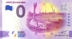 66 ARGELES-SUR-MER Barques catalanes, N° de la 5ème, 2021, Billet Euro Souvenir