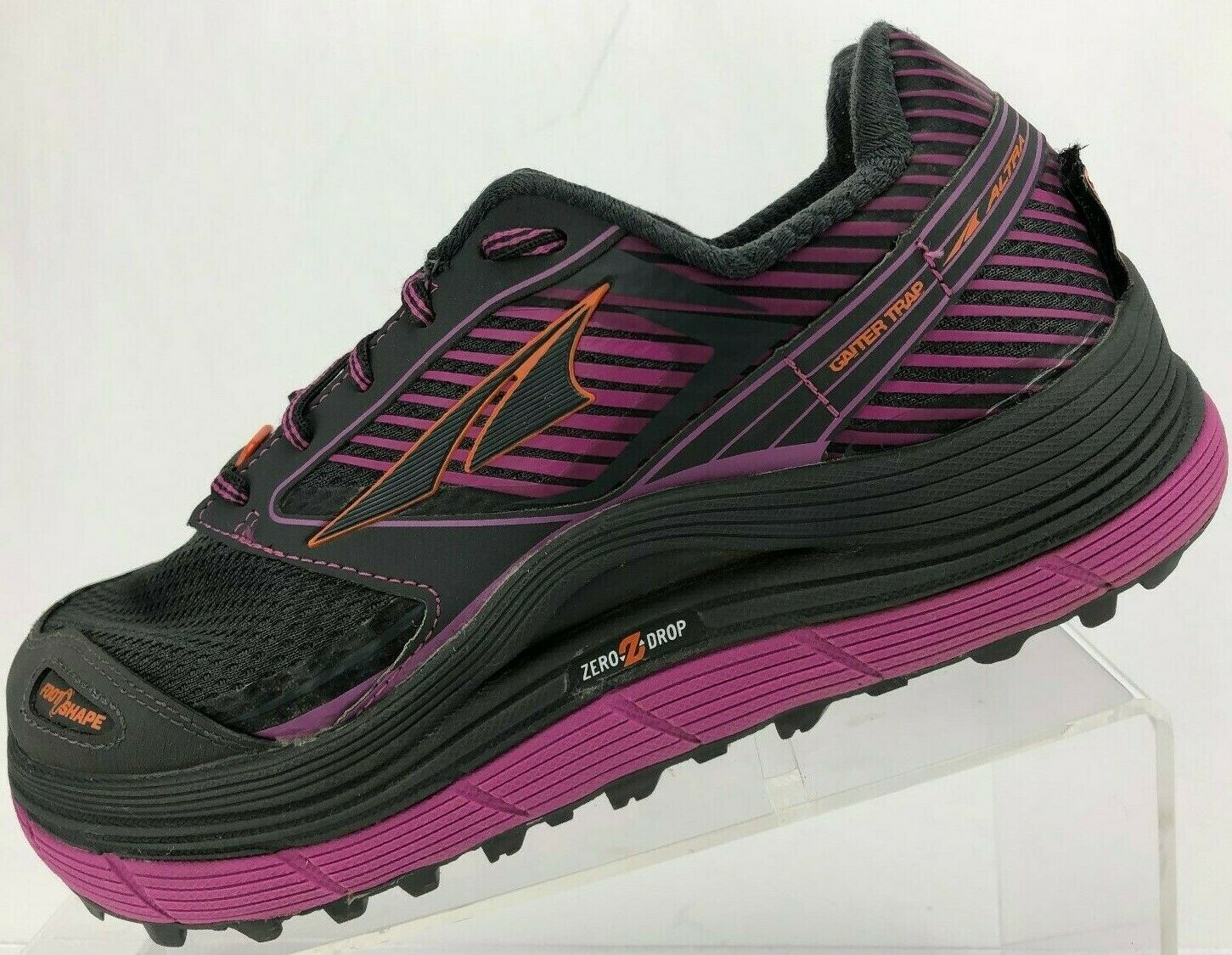 Altra Olympus 2.5 Trail Running shoes Grey Purple Training Sneakers Womens 7