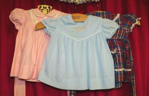 Vintage Children's Baby Dress Lot of 3- 6 months - image 1