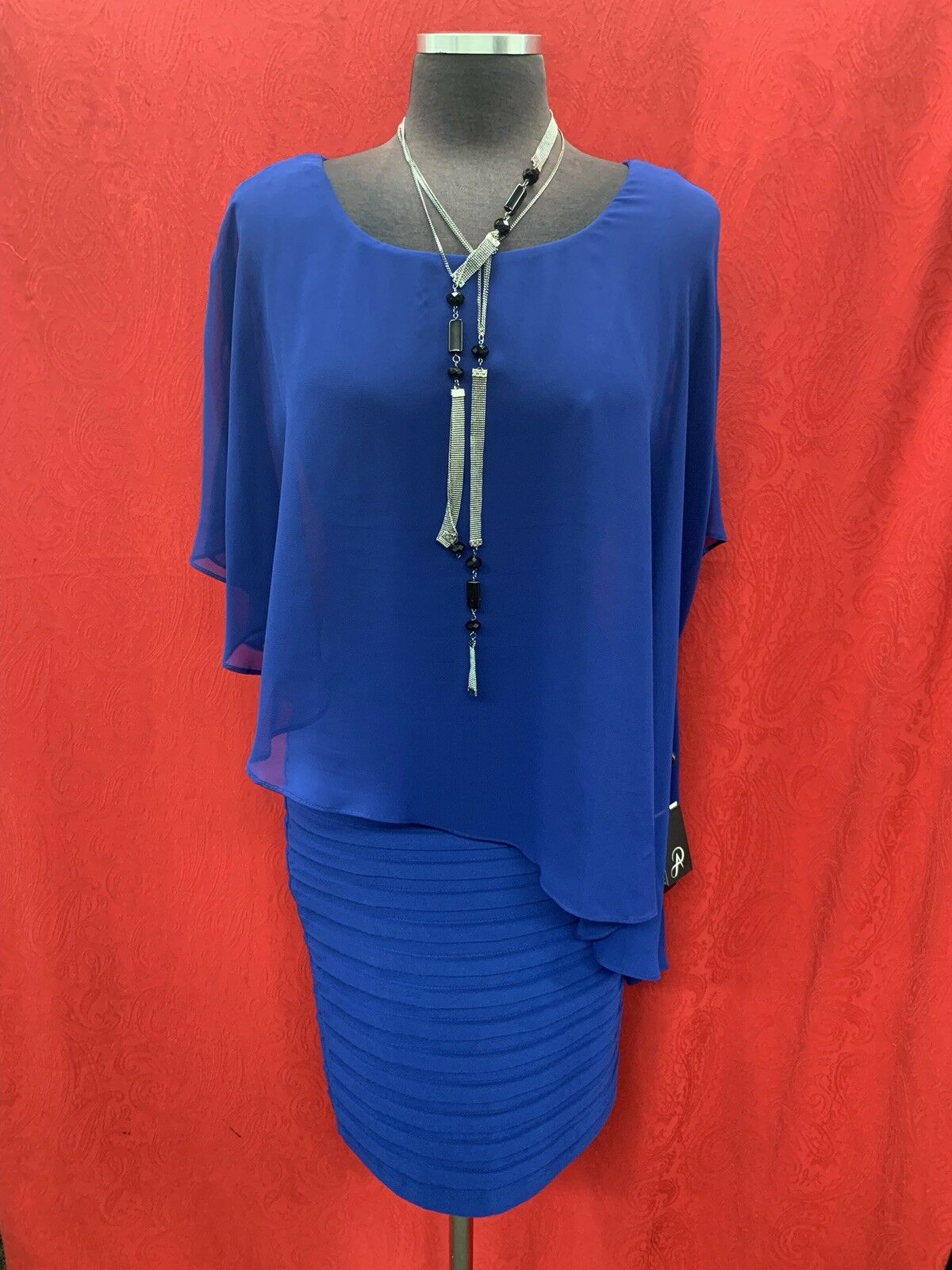 ADRIANNA PAPELL DRESS COBALT blueE NEW WITH TAG TAG TAG SIZE 6 RETAIL 169 LENGTH 39   cba197