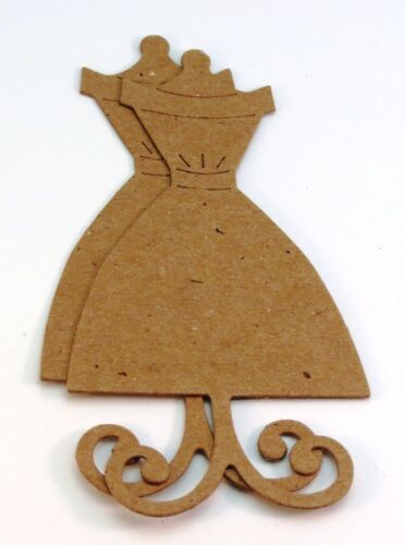Dress Form Raw White Chipboard Alterations Die Cut Embellishment sticker avail