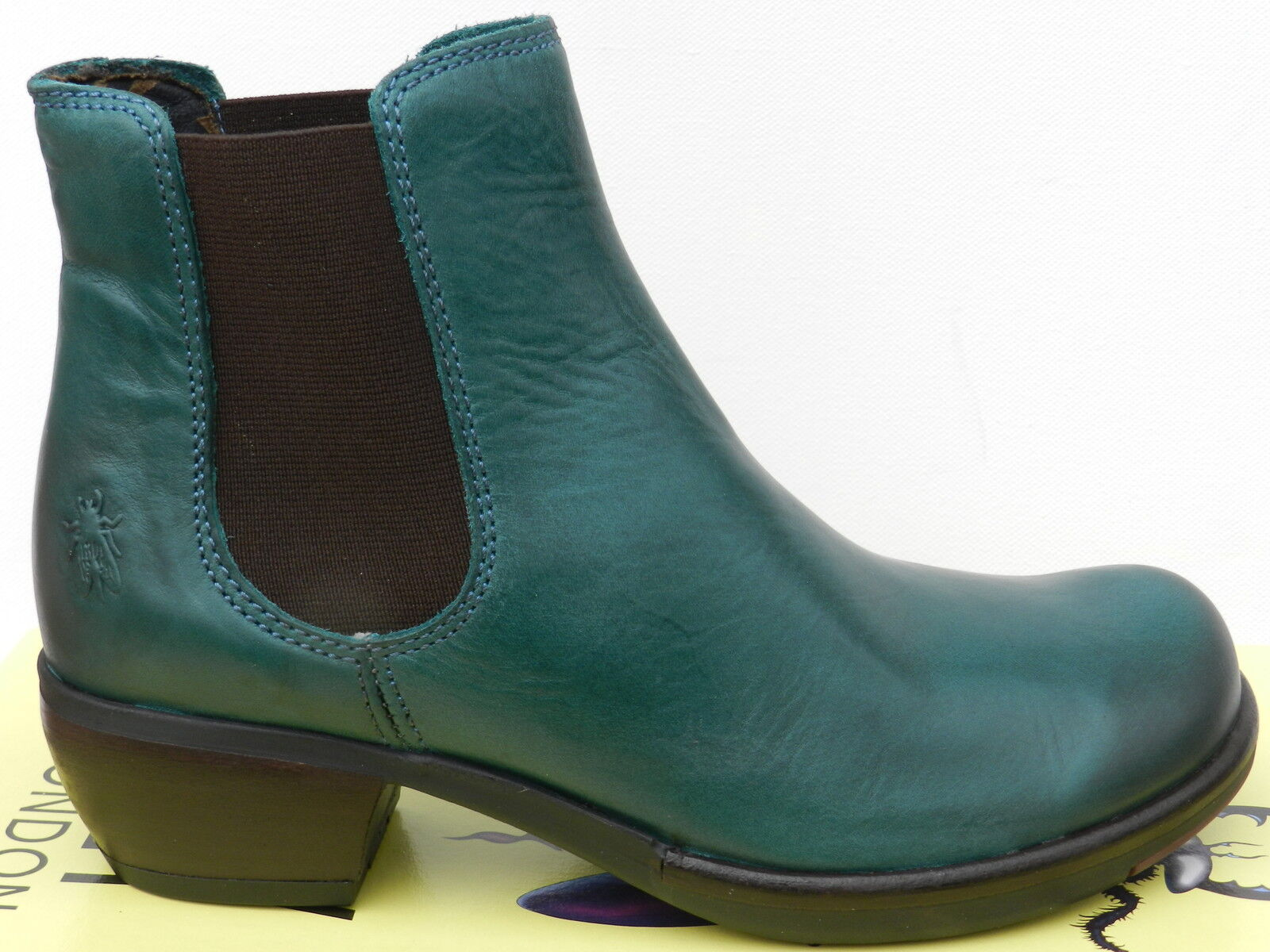 Fly Fly Fly London Make shoes Femme 40 Bottines Montantes Chelsea Boots Mel UK7 New 1a6339