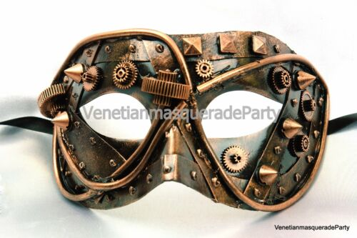 Mens Masquerade Mask Steampunk Burlesque Costume Prom Party Costume Dance