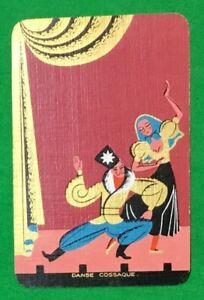 Playing-Cards-1-Swap-Card-Vintage-ENN-English-Named-DANSE-COSSAQUE-Stage-Dancing