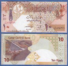 2008 P-28//29//30 Unc 3 Pieces Set Qatar 1 5 10 Riyals