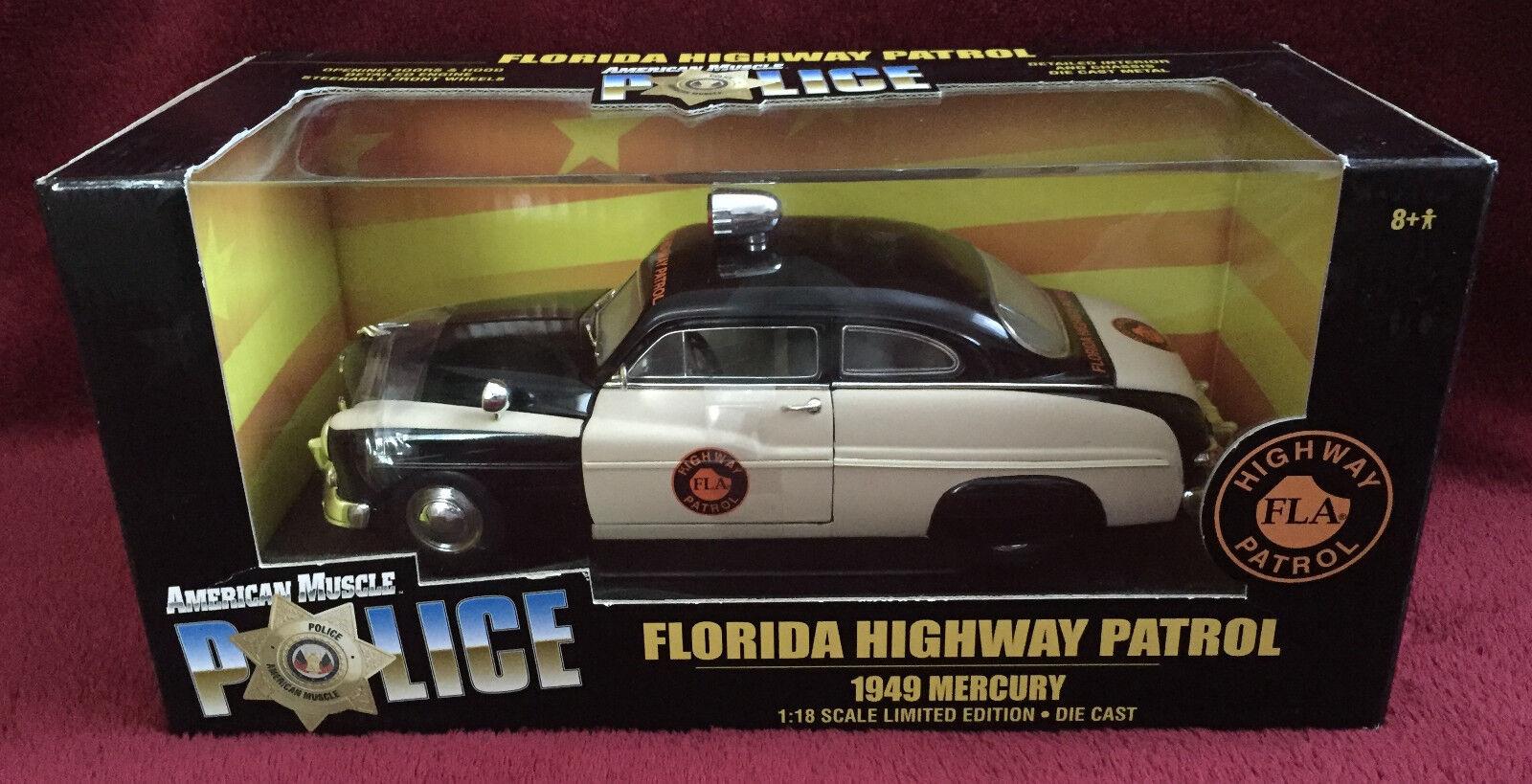 Ertl American Muscle Police 1949 Mercury Florida Highway Patrol 1/18 Diecast