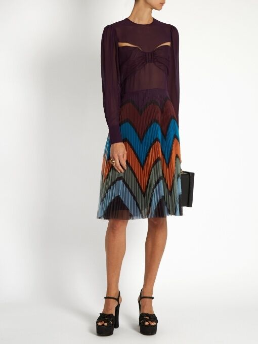 MARY KATRANTZOU Beta Pspringaaga -Print Dress Storlek US 4; IT 40; NWT  1,830