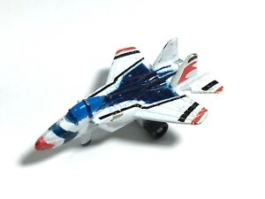 Micro-Machines-Mini-Galoob-F-15-Eagle-Fighter-Jet-Military-Aircraft-White-Red