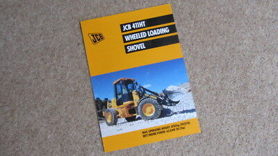 Jcb 411 Ht Wheeled Loading Shovel Brochure 9999/4614 10/01 Other Tractor Publications Agriculture/farming