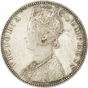 Au 30.79 55-58 1893 Strict Rupee 11.62 Shrink-Proof Km #492 Silver India-british #90049