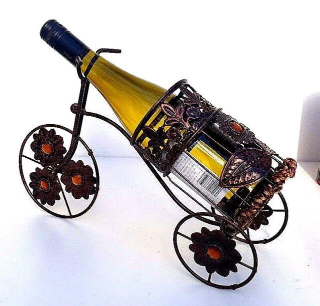 Metal Estante Botella Vino, Bicicleta Forma Soporte, Contador Top con Soporte