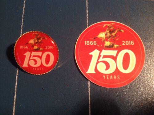 Winchester Guns// Firearms /'150 Years of Winchester/' Gold Plated Pin Badge