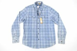 25cd01968 Image is loading TAILOR-VINTAGE-FADED-PLAID-CHECK-BLUE-MEDIUM-CORDUROY-