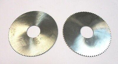2x Metall Kreissägeblatt Hss Ø80 X 1,6 + 2,0 X 22 Von Werkö + Re-bo Neu A3928