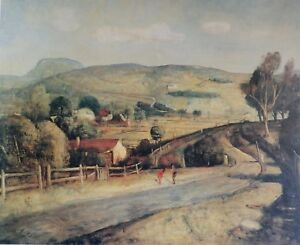 Lloyd-Rees-The-Road-to-the-Mountain-Rare-Australian-Art-Print