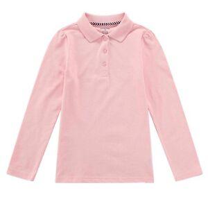 Bienzoe Boys School Uniform Breathable Quick Dry Long Sleeve Polo