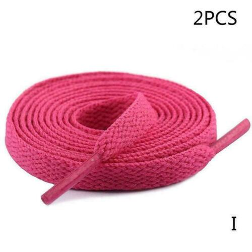 Details about  /1Pair Shoelaces Colorful Coloured Flat Round Bootlace Sneaker Laces Strings B9V3
