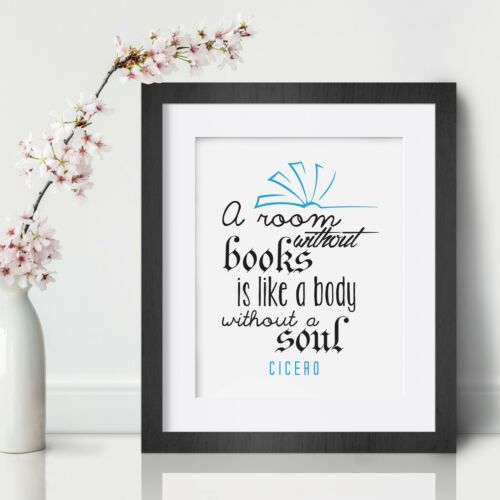 Cicero Inspirational Wall Art Print Motivational Quote Poster Decor Gift Home