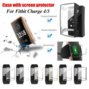 Cover Full Screen Protector TPU Protective Case For Fitbit Charge 4 3 Band