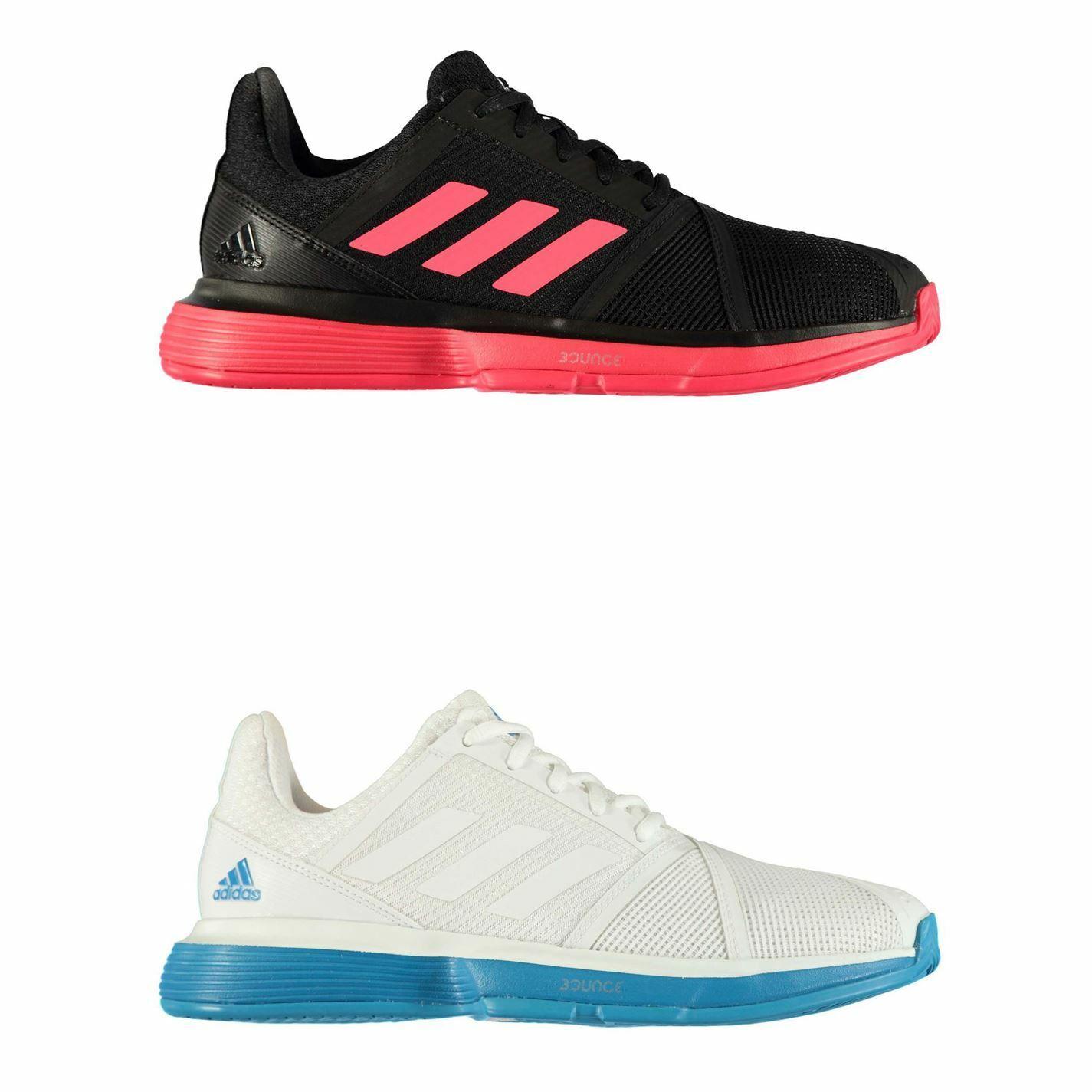 Adidas CourtJam Bounce Pour des hommes Tennis chaussures Trainers Sports Footwear paniers