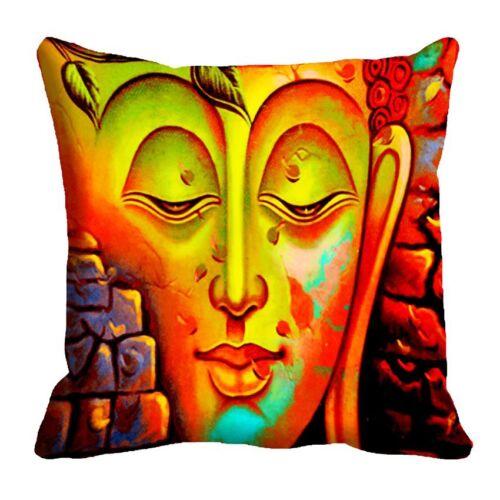 Radanya Yellow Shut Up 3D Cushion Cover Decorative Orange Colour Cushion Cover