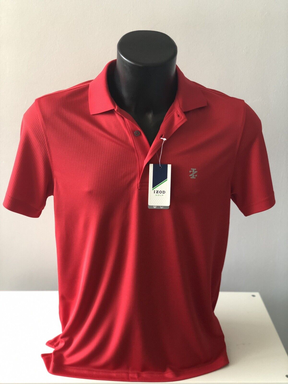 IZOD Men/'s Pink Striped Pique Branded Polo Size L,XL NWT