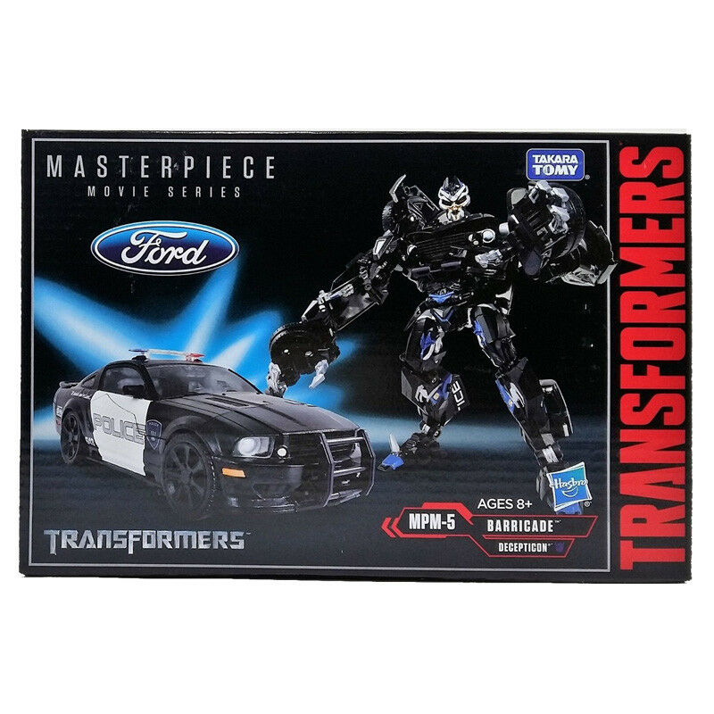 TAKARA TRANSFORMERS MASTERPIECE MPM-5 BARRICADE FORD POLICE CAR ACTION FIGURES