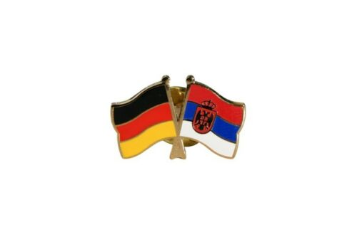 Germany-Serbia with Coat of Arms Flag Pin Flag Pins fahnenpin flaggenpin at