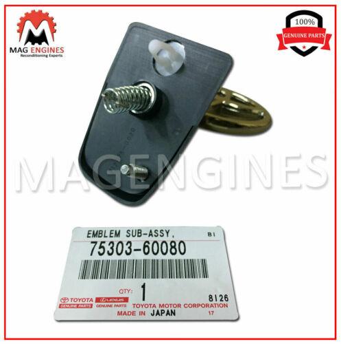75303-60080 GENUINE OEM EMBLEM SUB-ASSY HOOD 7530360080