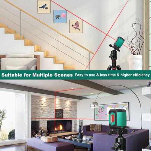 HYCHIKA 50 Feet Laser Level Rotary 360° Switchable Self-Leveling Measure Tool