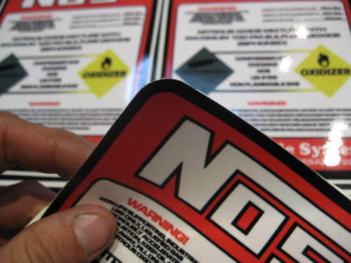 2 LB NITROUS BOTTLE Direct Replacement Decal NOS Label Red /& White 2# Sticker