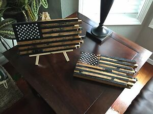 Image Is Loading Handmade Whiskey Barrel Stave Wooden Flag Flag Home