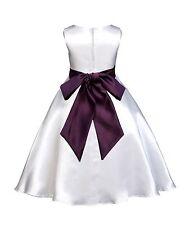 WHITE WEDDING PAGEANT FLOWER GIRL DRESS 12-18m 2 2T 3 3T 4 4T 5 6 6X 8 10 12 14