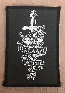 Balaam-And-The-Angel-Rock-Sew-On-Patch-1989-Original-New-Old-Stock-vintage-rock