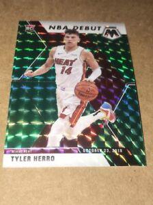 Tyler-Herro-2019-20-Panini-Mosaic-NBA-Debut-Green-Prizm-RC-Miami-Heat-Rookie