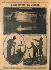 Silhouettes de Poilus Soldats Soldiers Feldgrauen Tommy Dardanelles  WWI 1915