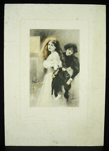 Ferdinand-Sigismund-Tray-1859-1952-Original-Engraving-Color-Countersigned-1900