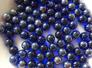 Contemplatif 25 Clair Lustered Bleu Cobalt Verre Billes 16 Mm Timelesss Traditionnel Jouet/jeu-afficher Le Titre D'origine Brillant En Couleur