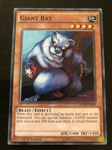 Giant Rat Yugioh Card Genuine Yu-Gi-Oh Trading Card
