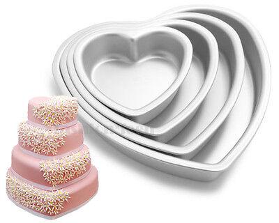 Heart Aluminum Cake Pan Fondant Decorating Muffin Cupcake Mold Tins Baking Tool
