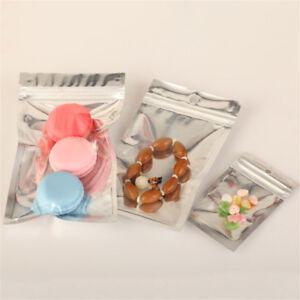 100x-Silver-Aluminum-Foil-Mylar-Bag-Vacuum-Bags-Sealer-Zip-Food-Storage-Packa-LL