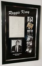 Rare Reggie Kray Signed Letter with Luxury Framing Autographed Photo Display