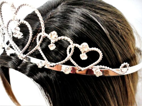 Hearts Rhinestone Tiara Quinceanera Sweet 15 Sweet 16 Prom   C7558