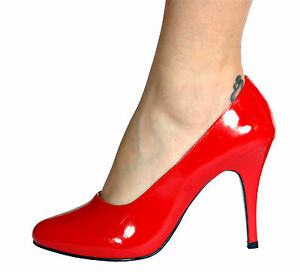 Red High Heel Court Pump Shoes Transvestite UK 8 9 10 11 | eBay